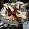 七輪で炭火焼、食欲の秋に何焼いて食べる?