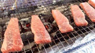 キャンプの夜は卓上バーベキューグリルで思う存分肉祭り